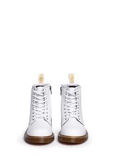 Dr. Martens'Delaney' pebbled leather kids boots