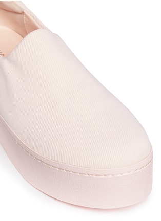 Detail View - Click To Enlarge - Opening Ceremony - 'Cici Tonal' twill flatform skate slip-ons