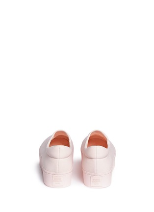 Back View - Click To Enlarge - Opening Ceremony - 'Cici Tonal' twill flatform skate slip-ons