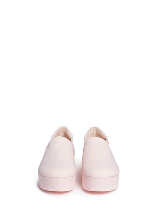 Front View - Click To Enlarge - Opening Ceremony - 'Cici Tonal' twill flatform skate slip-ons