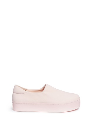 Main View - Click To Enlarge - Opening Ceremony - 'Cici Tonal' twill flatform skate slip-ons