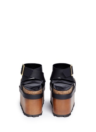 Back View - Click To Enlarge - Sacai - x Pierre Hardy colourblock leather platform sandals