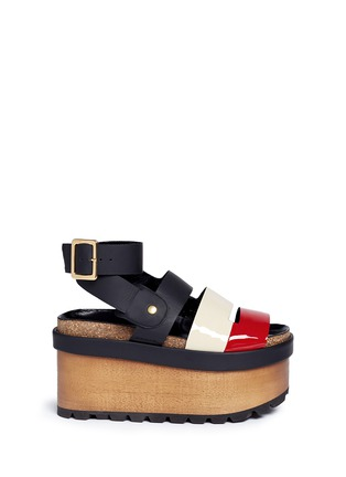 Main View - Click To Enlarge - Sacai - x Pierre Hardy colourblock leather platform sandals