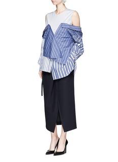 ENFÖLDBelted paperbag waist midi skirt