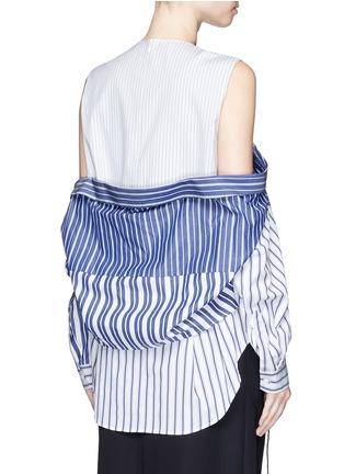 Back View - Click To Enlarge - ENFÖLD - Stripe off shoulder top