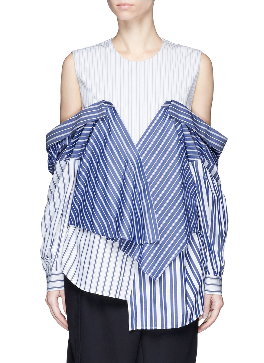 Stripe off shoulder top by ENFÖLD