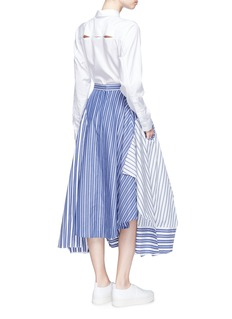 ENFÖLD Reconstructed stripe shirting skirt