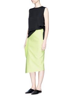 NOHKEAsymmetric draped front skirt