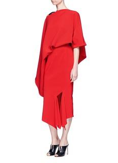 NOHKEDraped one-shoulder stretch twill dress