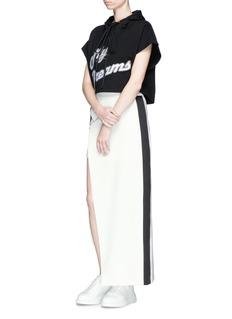 CRES. E DIM.Asymmetric layered wrap front skirt