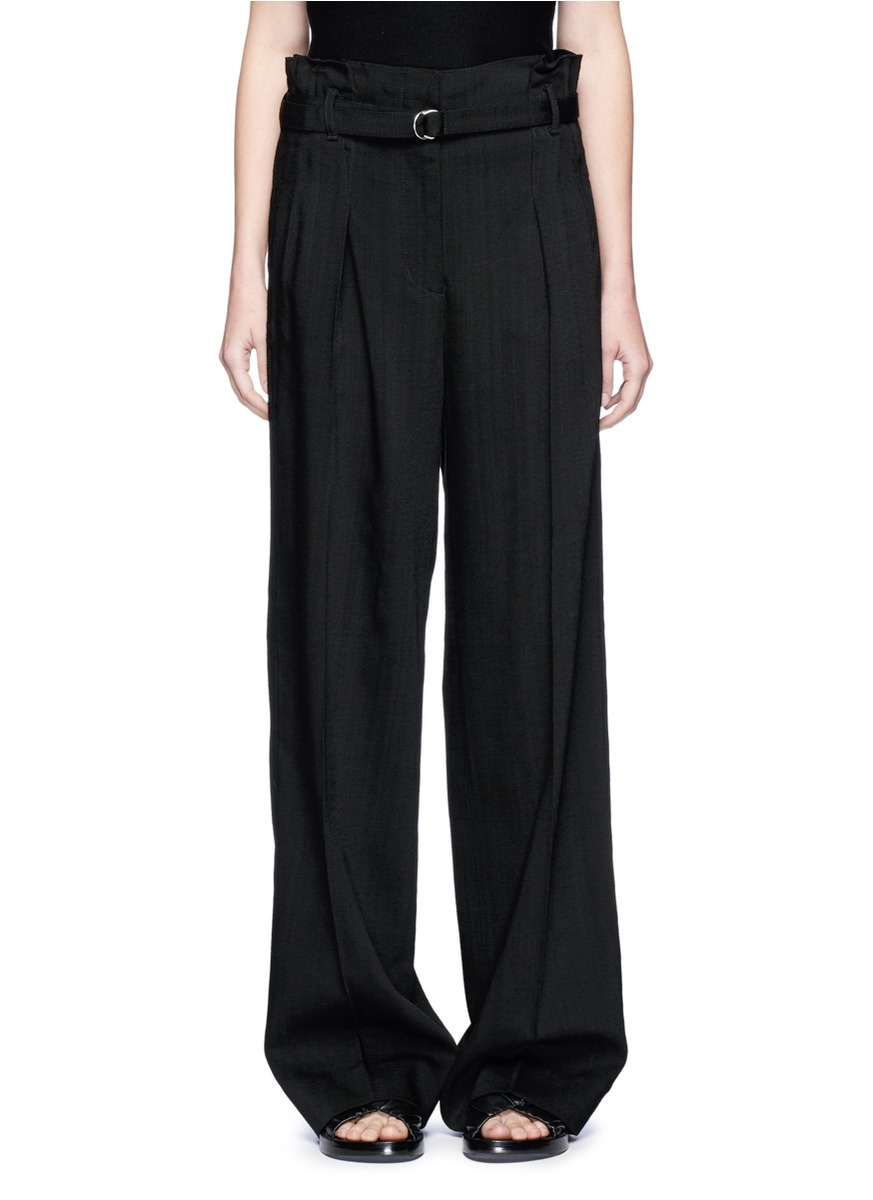 Belted paperbag waist wide leg pants by 3.1 Phillip Lim