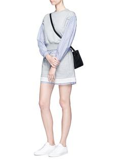 3.1 Phillip LimPinstripe sleeve French terry sweatshirt