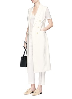 3.1 Phillip Lim Sculpted waist double breasted sleeveless coat
