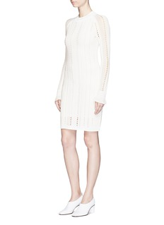 3.1 Phillip Lim Compact pointelle lace knit dress