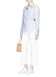 3.1 Phillip LimVictoriana crest embroidered cutout poplin blouse