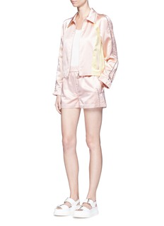 3.1 Phillip Lim'Western' stud floral jacquard satin bloomer shorts