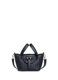 Meli Melo'Thela Micro Mini' woven effect leather crossbody bag