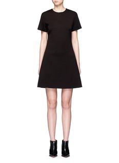 Proenza SchoulerLace-up back wool blend A-line dress