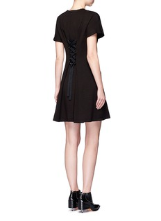 Proenza Schouler Lace-up back wool blend A-line dress