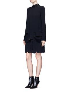 Proenza SchoulerSlit panel drop waist crepe dress