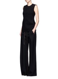 Proenza SchoulerWrap-effect sash wide leg crepe pants
