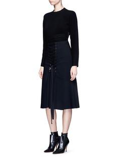 Proenza SchoulerCrisscross tie waist wool-cashmere knit top