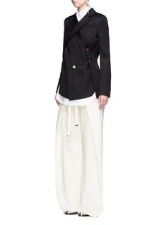 Proenza SchoulerWrap-effect sash wide leg pants
