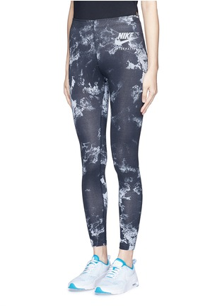 Front View - Click To Enlarge - Nike - 'Nike International' aerial print sports leggings