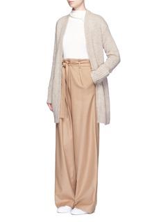 Theory'Analiese' foldup cuff alpaca-wool long cardigan