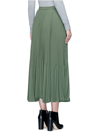Back View - Click To Enlarge - Theory - 'Laire' pleat crepe maxi skirt