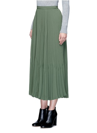 Front View - Click To Enlarge - Theory - 'Laire' pleat crepe maxi skirt