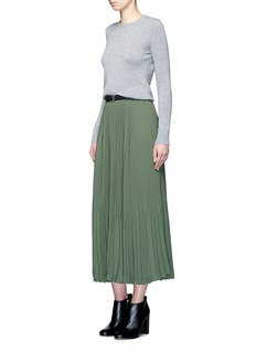 Theory'Laire' pleat crepe maxi skirt