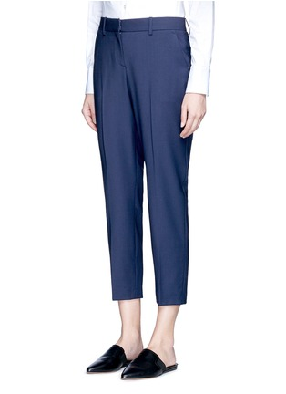 Front View - Click To Enlarge - Theory - 'Trecca' cropped virgin wool blend suiting pants