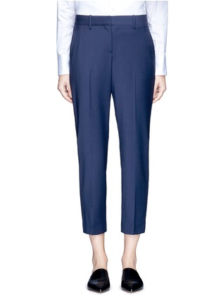 Main View - Click To Enlarge - Theory - 'Trecca' cropped virgin wool blend suiting pants