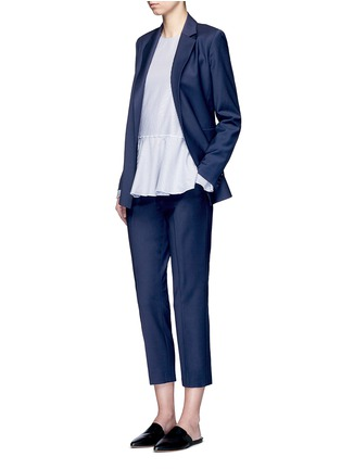Figure View - Click To Enlarge - Theory - 'Trecca' cropped virgin wool blend suiting pants
