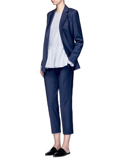 Theory'Trecca' cropped virgin wool blend suiting pants