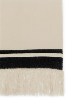 Detail View - Click To Enlarge - Isabel Marant - 'Carlyn' stripe cashmere knit blanket scarf