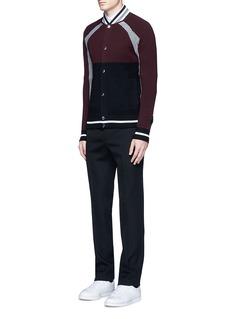 GivenchyColourblock and stripe jacket cardigan