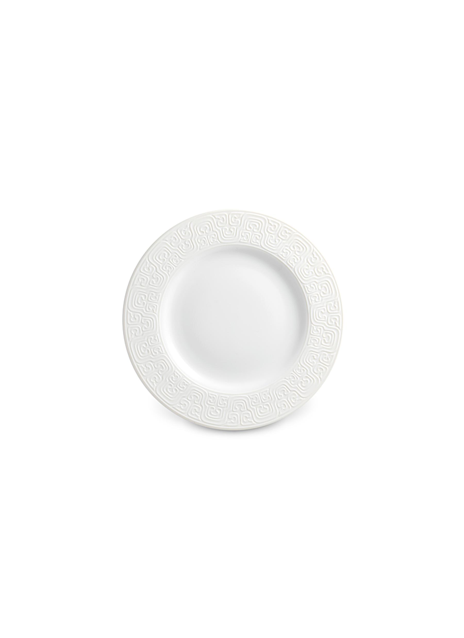 lobjet female soie tressee bread and butter plate white