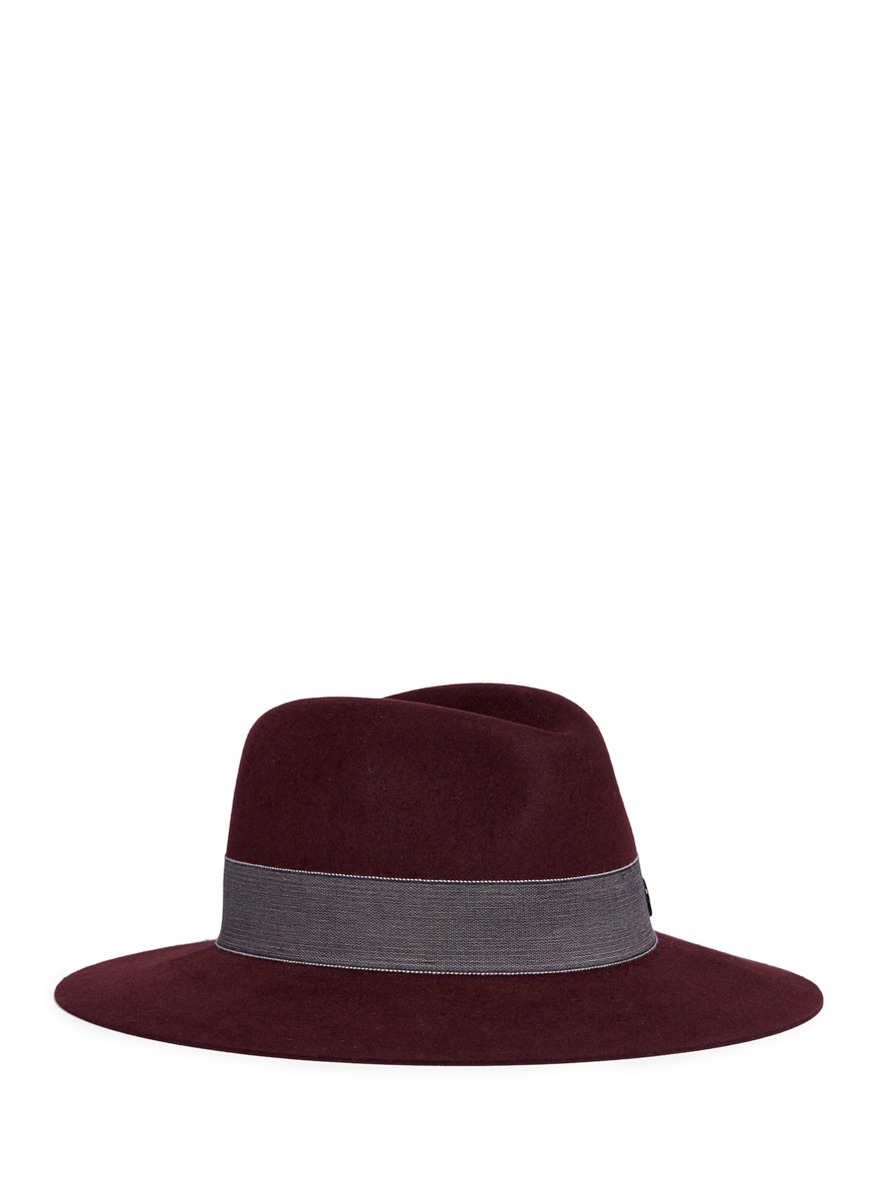 Hanrietta swirl rabbit furfelt fedora hat by Maison Michel