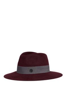 Maison Michel'Hanrietta' swirl rabbit furfelt fedora hat