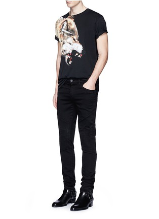 Figure View - Click To Enlarge - Marcelo Burlon - 'Cruces' animal print T-shirt