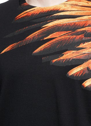 Detail View - Click To Enlarge - Marcelo Burlon - 'Lonquimay' wing print T-shirt