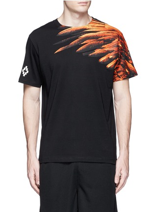Main View - Click To Enlarge - Marcelo Burlon - 'Lonquimay' wing print T-shirt