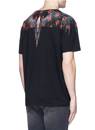 Back View - Click To Enlarge - Marcelo Burlon - 'El Cruce' wing print T-shirt