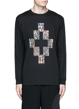 Main View - Click To Enlarge - Marcelo Burlon - 'Lastarria' psychedelic logo print T-shirt