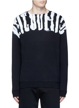Main View - Click To Enlarge - Marcelo Burlon - 'Chachani' smoke print sweatshirt