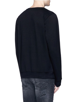Back View - Click To Enlarge - Marcelo Burlon - 'Bayo' snake embroidery sweatshirt