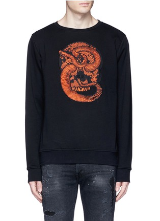 Main View - Click To Enlarge - Marcelo Burlon - 'Bayo' snake embroidery sweatshirt