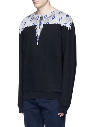 Front View - Click To Enlarge - Marcelo Burlon - 'Pelarco' wing print sweatshirt
